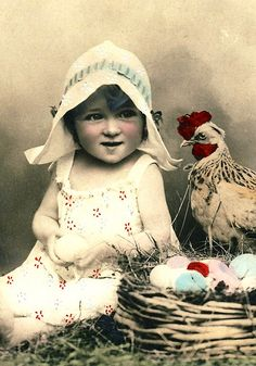 I'm pretty sure my new calendar needs a picture of a little girl and a chicken in it.