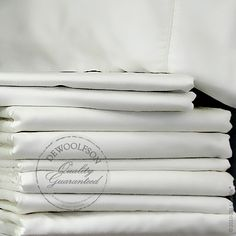 Lycella® Luxury Linens are the world's finest sheets for everyday use. They are more cottony than cotton and as silky as silk. Lycella is made from 100 percent Tencel® Lyocell, made from the eucalyptus tree. This 300 thread count sateen is sustainable and an all-natural fiber. Generously sized to fit DeWoolfson's comforters and extra deep mattresses.