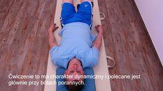 Kręgosłup lędźwiowy, faza ostra ćwiczenia, Maciej Wilkanowski i Marcin L... Sciatica, Back Pain, Fitness Inspiration, Detox, Health Fitness, Yoga, Sports, Youtube, Hs Sports