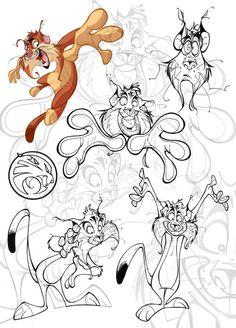 Character and Creature Design Notes: Francisco Herrera Character Model Sheet, Character Drawing, Character Concept, Concept Art, Cartoon Design, Cartoon Styles, Cartoon Drawings, Animal Drawings, Illustrations