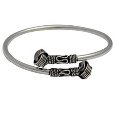 Jewelry of India Sterling Silver Arm Bracelet Dia 2.25 Inches ShalinIndia. $55.16. Created by the artisans of Jaipur, Rajasthan.. Bracelets Dia: 2.5 inches, Weight: 11 Grams.. Cuff Bracelet in sterling silver, Handmade in India.. Apply silver polish to prevent oxidization.. All purpose jewelry - casual, formal and party wear. Save 40%!