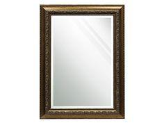 Beveled Gold Mirror