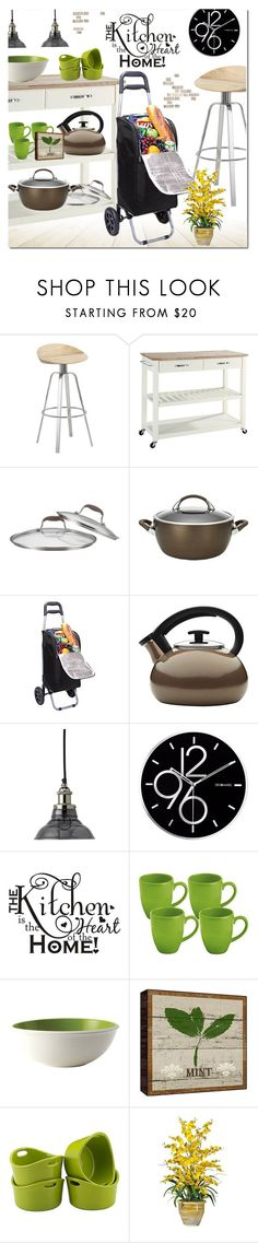 """""""Kitchen-Heart of the Home"""" by ansev ❤ liked on Polyvore featuring interior, interiors, interior design, home, home decor, interior decorating, Jamie Young, DecoMates, Rachael Ray and kitchen"""