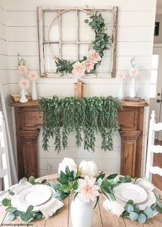 "Blush Peach Dahlia Silk Flower - 19 "" - Interesting Informations Farmhouse Decor, Farmhouse Christmas Decor, Spring Diy, Summer Home Decor, Spring Decor, Fireplace Mantle Decor, Mantle Decor, Home Decor, Spring Mantle Decor"