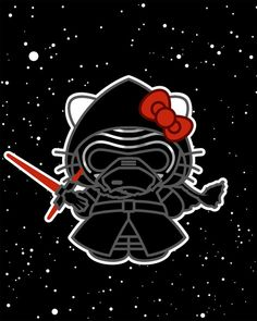 hello kitty, star wars, and wp image
