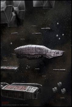 Mark Molnar - Sketchblog of Concept Art and Illustration Works: Star Wars - The Convoy