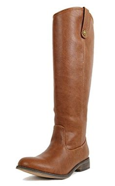 Breckelles Rider-18 Womens Classic Knee High Riding Boots PTAN 6.5 >>> To view further for this item, visit the image link.
