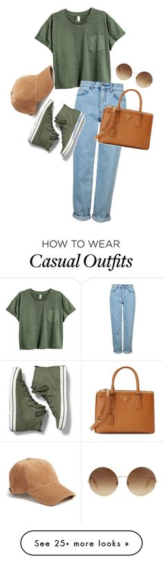 """Casual"" by editor-swift on Polyvore featuring Topshop, Keds, Prada, Victoria…"