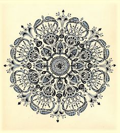 Pretty Mandala...love this design...minus the little faces that look like skull/snowmen with stripey scarves :P