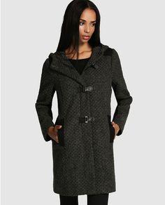 Trenka de mujer Naf Naf gris con capucha