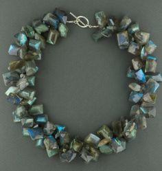 chunky labradorite necklace by rockedjewelry on Etsy, $950.00