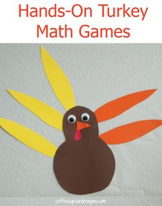 New math concepts can easily frustrate kids. To keep it fun we made a hands Thanksgiving Activities For Kids, Math Activities For Kids, Math For Kids, Fun Math, Thanksgiving Crafts, Number Activities, Autumn Crafts, Holiday Activities, Classroom Activities