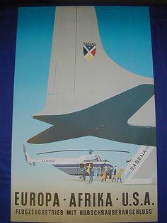 Sabena Old Publicity Poster - 8...  $5.99