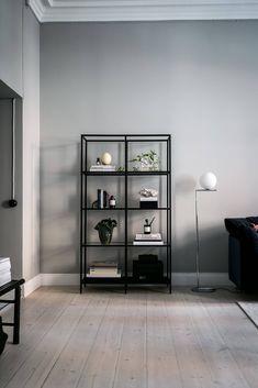 """Ikea """"Vittsjö"""" shelving unit decor apartment she. Ikea Living Room Furniture, Condo Living Room, Living Room Shelves, Apartment Living, Living Room Units, York Apartment, Ikea Interior, Best Ikea, Interiores Design"""