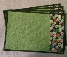 Quilted Placemat Patterns, Quilted Potholders, Quilt Patterns, Table Runner And Placemats, Quilted Table Runners, Quilting Projects, Sewing Projects, Place Mats Quilted, Mug Rugs