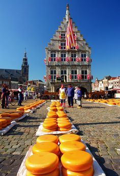 Cheese Market - Gouda, Holland. Every Thursday in the summer