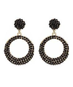 Jet Black Broadway Drop Earrings by Amrita Singh Tassel Earrings, Chandelier Earrings, Clip On Earrings, Drop Earrings, Cement Jewelry, Amrita Singh, Other Accessories, Fashion Earrings, Costume Jewelry
