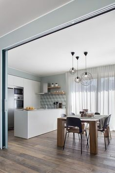 View full picture gallery of Happy Family Kitchen Table Chairs, Table And Chairs, Happy Family Pictures, Loft Interiors, Lunch Room, Minimalism, Sweet Home, House Design, Living Room