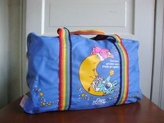 Vintage Care Bears Duffle Bag 80s Childrens by QuiteFrankie