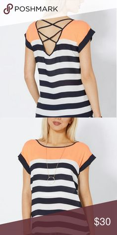 Spotted while shopping on Poshmark: NWT Caged Back Blouse! #poshmark #fashion #shopping #style #Tops