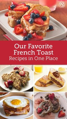 French Toast Recipes to Get Everyone Out of Bed For a sweet breakfast that almost feels like dessert, try one of these 15 French toast ideas that will totally turn you into a morning person. Breakfast Toast, Sweet Breakfast, Breakfast Dishes, Breakfast Recipes, Sunday Breakfast, Vegetarian Breakfast, Vegan Vegetarian, Brunch Recipes, Dessert Recipes