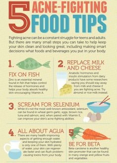 5 Acne Fighting Food Tips..