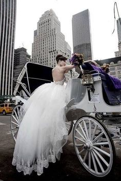 I would love to have a carriage to ride in at my wedding