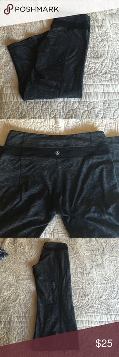 Lululemon crops GUC, charcoal crops! lululemon athletica Pants