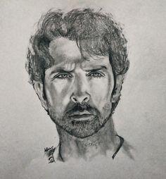 Graphite sketch on paper Hrithik Roshan, Graphite, Sketch, Paper, Art, Graffiti, Sketch Drawing, Kunst, Sketching
