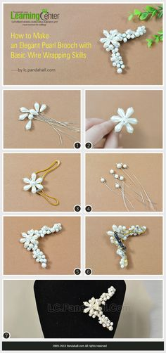 How to Make an Elegant Pearl Brooch with Basic Wire Wrapping Skills