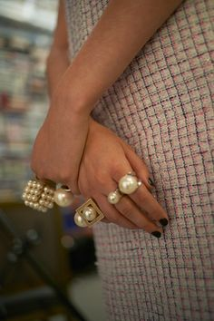CHANEL pearl rings amazing!