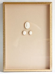 Framed Antique Intaglios No. 1  And George $625.00