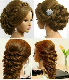 New bridal hairstyles updo messy up dos Ideas New Bridal Hairstyle, Bridal Hair Buns, Indian Wedding Hairstyles, Hairdo Wedding, Long Hair Wedding Styles, Bun Hairstyles For Long Hair, Elegant Hairstyles, Bride Hairstyles, Front Hair Styles