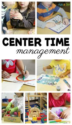 Center Time Management Ideas for Preschool and Kindergarten #Preschool #Kindergarten #FunADay #PreschoolLearning #PreschoolClassroom #KindergartenClassroom #ECE #PreschoolCenters #KindergartenCenters