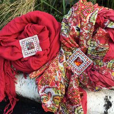 Add some shimmer to your fall look • Sinchi® Scarf Clip • Not your Grandmother's Brooch •