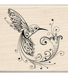 Inkadinkado Rubber Stamp - Hummingbird Body Art Tattoos, New Tattoos, Tattoos For Guys, Sleeve Tattoos, Hand Tattoos, Bicep Tattoos, Ribbon Tattoos, Tattoo Sleeves, Ankle Tattoos