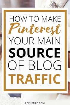 Learning how to get traffic from Pinterest all comes down to learning how to grow your Pinterest account - grow your followers, create pins, join group boards, etc. Check out this 8 week strategy to explode your Pinterest account AND your blog.