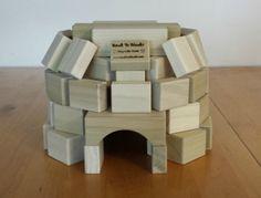 wooden blocks igloo