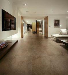 Bodenfliesen Keramische Fliesen Weiße Wände Wohnzimmer