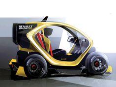 Sketches we like / Digital Sketch / Transportational Design / renault / Yellow / at Simkom