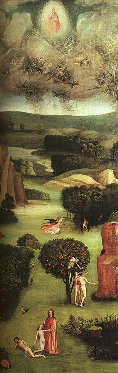 Hieronymus Bosch (Dutch: 1450 – 1516)  born Jheronimus van Aken  -  Left Panel of The Last Judgement Triptych