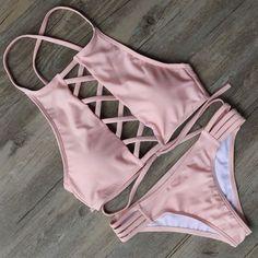 Sexy Bandage  Bikini Set  Swimsuit Beach Bathing Suits For… cdcd4727fc
