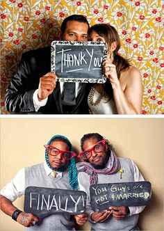 instead of a guest book, people write a chalk message to you and take a photo. I love this idea!