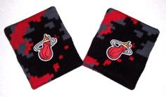 Miami Heat Camo Fade Wristbands Sweatbands By For Bare Feet by For Bare Feet. $8.45. One pair of team logo wristbands.  Top-quality expandable terry cloth double-wide wristbands.  Super comfortable and absorbent.  Machine washable cotton/poly blend.  Officially licensed by the team and the league.  Brand new in package.