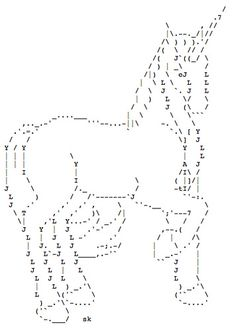 Unicorn ASCII