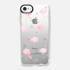 Cloudy with a Chance of Flamingos - Classic Grip Case