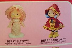 NIB Strawberry Shortcake Berry Wear Outfits Berry by stamp4hobby