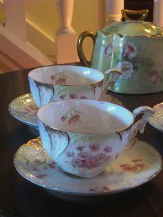 Bavarian bone china with roses #love