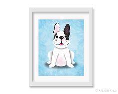 French Bulldog Art Print  8 x 10 print by krankykrab on Etsy