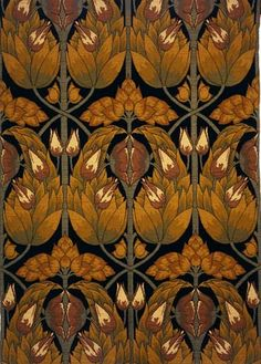 Charles Harrison Townsend, 'Omar' woven furnishing textile, 1896-1900. Museum no. CIRC. 887-1967